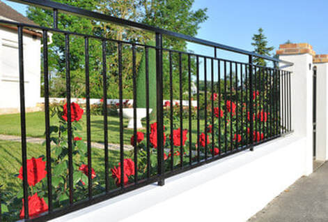 Picture of Wrought Iron Fencing installed by Fence and Decks of Ocala, FL.